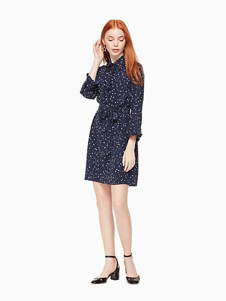 01de5465f Kate Spade Night Sky Silk Shirtdress In Rich Navy | ModeSens