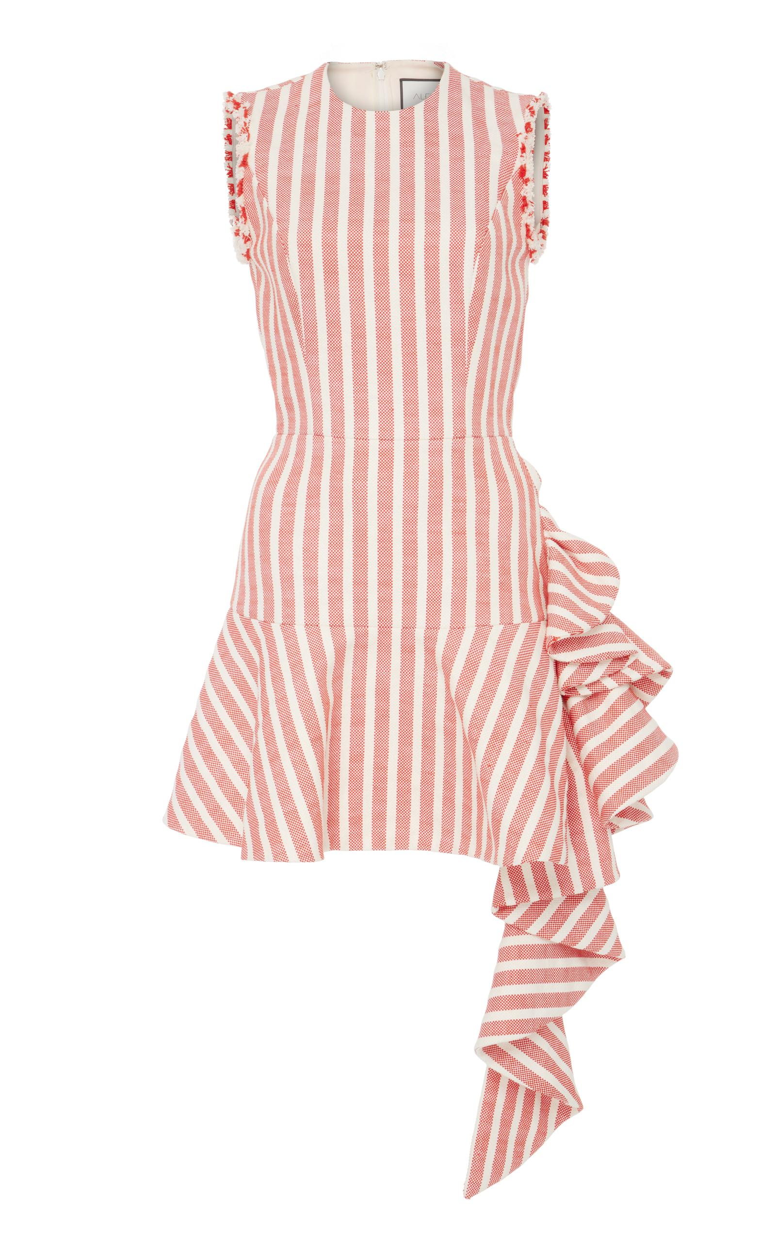 0e1de2b70876 Alexis Cara Sleeveless Slim-Fit Striped Cotton Cocktail Dress In Red ...