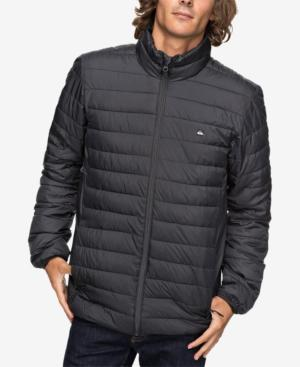 acf23b7aef1d1 Quiksilver Men's Scaly Full-Zip Quilted Puffer Jacket In Black ...