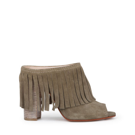 Casadei Mules In Olive Green
