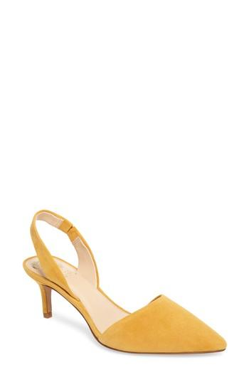 a6b472153007 Vince Camuto Kolissa Slingback Pump In Yellow Suede