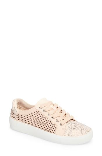 eaefd5a6b92a4 Vince Camuto Women's Chenta Embellished Nubuck Leather Low Top Lace ...