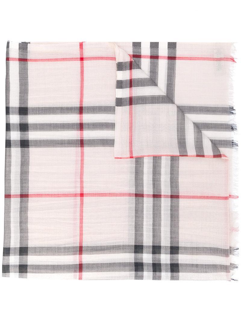 c4042d4f12c92 Burberry Lightweight Check Wool And Silk Scarf - Neutrals | ModeSens