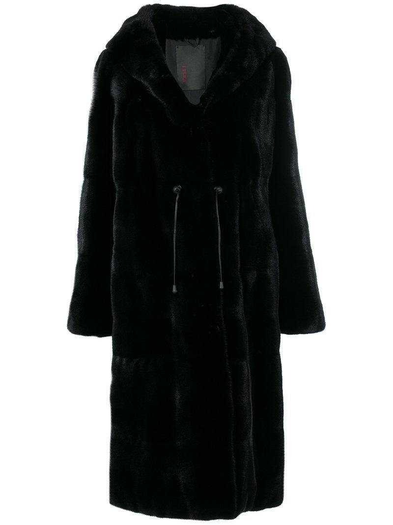 db2e2753ff85 Liska Hooded Fur Coat - Black | ModeSens