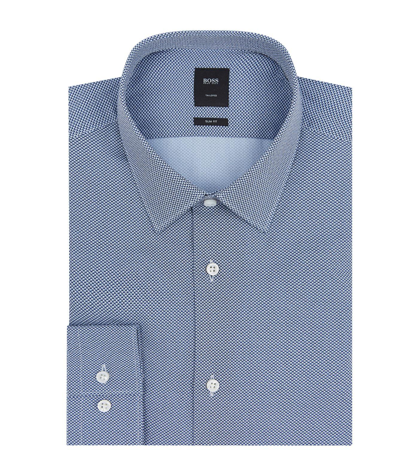 14a3f96dc Hugo Boss Slim Fit Cotton Shirt In Blue | ModeSens