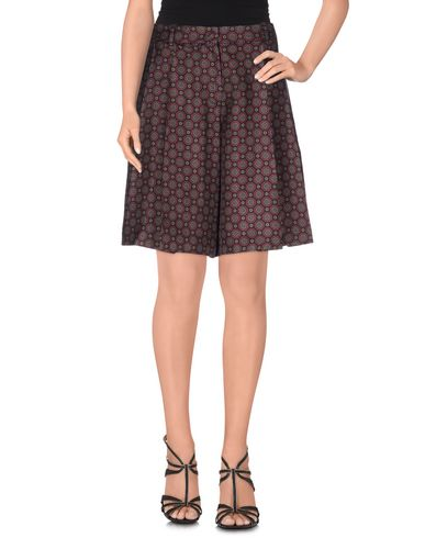 Michael Kors Knee Length Skirt In Maroon