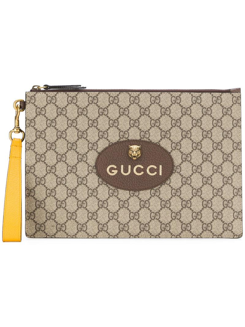 3f32a7e52 Gucci Neo Vintage Gg Supreme Pouch In Neutrals | ModeSens
