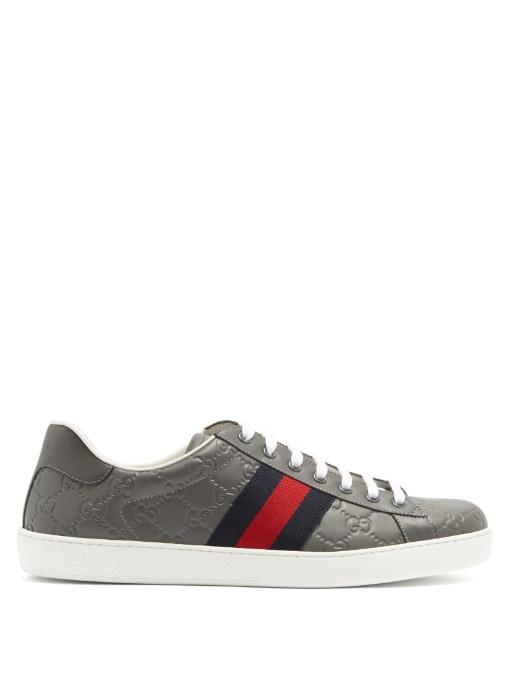 86fdef35ddf Gucci New Ace Low-Top Leather Trainers In Multi