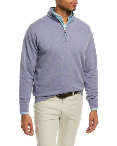 f00c4ca316 Peter Millar Crown Comfort Interlock Quarter-Zip Sweatshirt In Red ...
