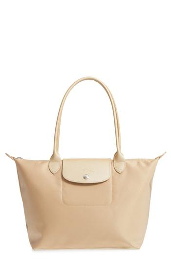 222d02494 Longchamp Le Pliage Neo Medium Nylon Shoulder Tote Bag In Gold ...