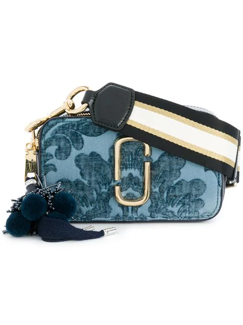 c7d47b309eae Marc Jacobs Blue Damask Canvas Snapshot Small Camera Bag In Red ...