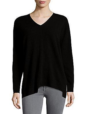 Lafayette 148 V-Neck Sweater In Black