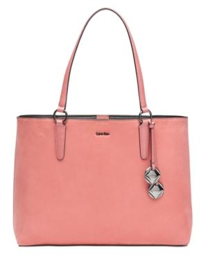 ad29663fa7 Calvin Klein Reese Extra-Large Suede Tote In Dahlia