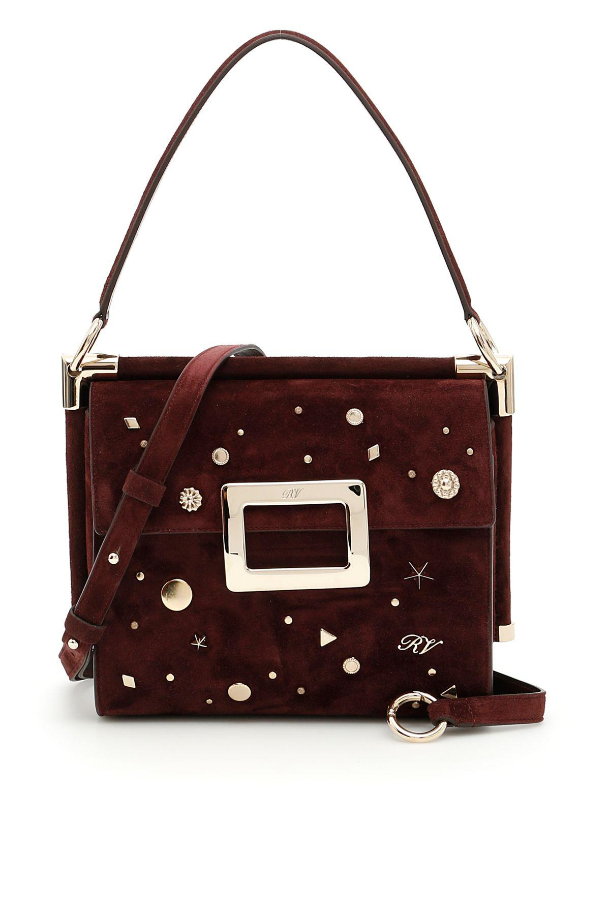 Roger Vivier Miss Viv CarrÉ Small Bag In Kraft|Rosso