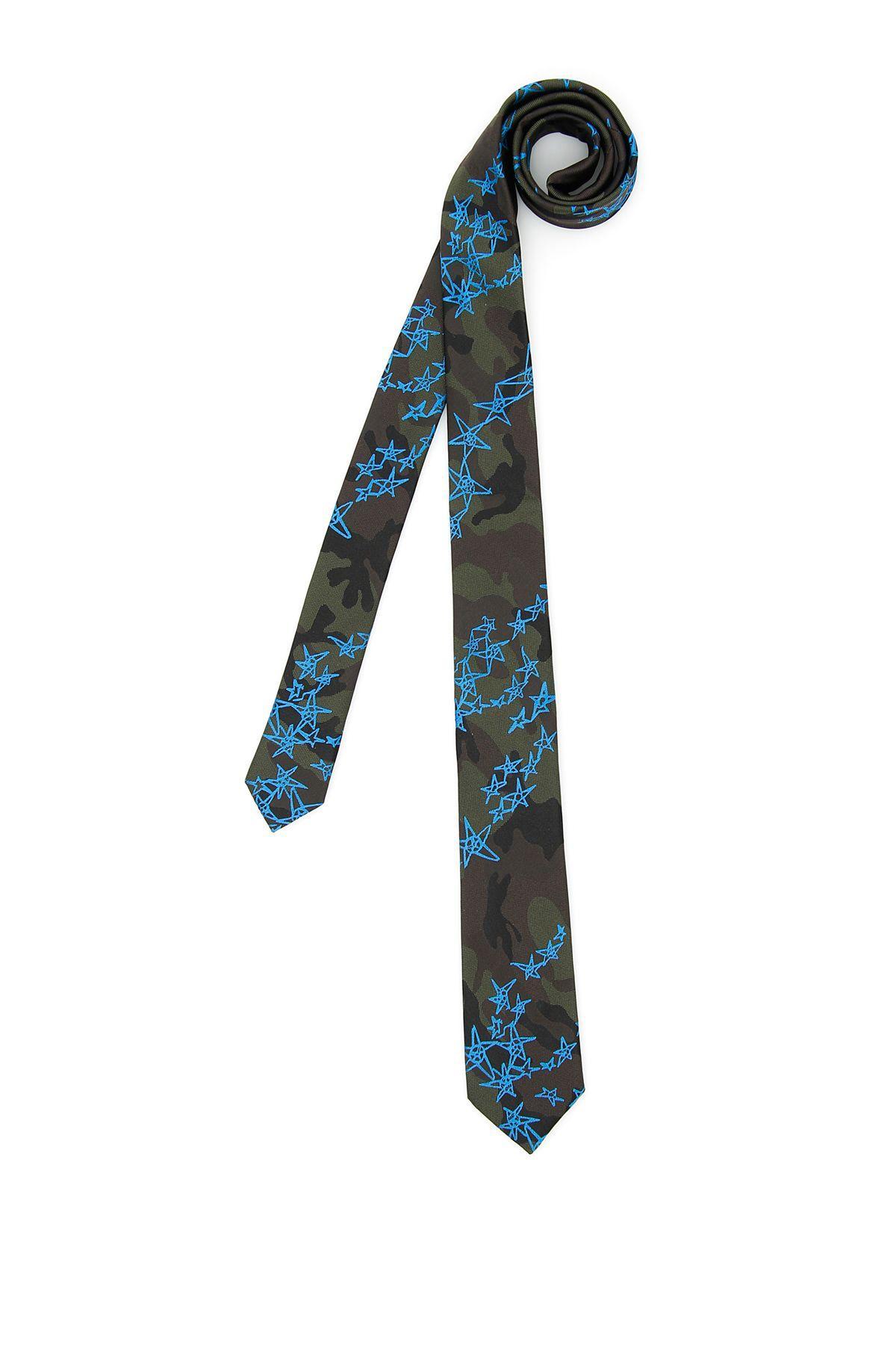 Valentino Camouflage Jacquard Silk Tie In Basic