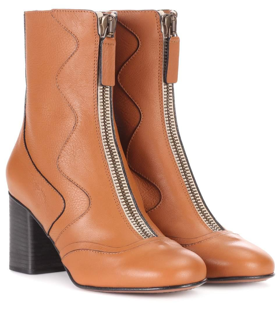 ChloÉ Exclusive To Mytheresa.Com - Leather Ankle Boots In Brown