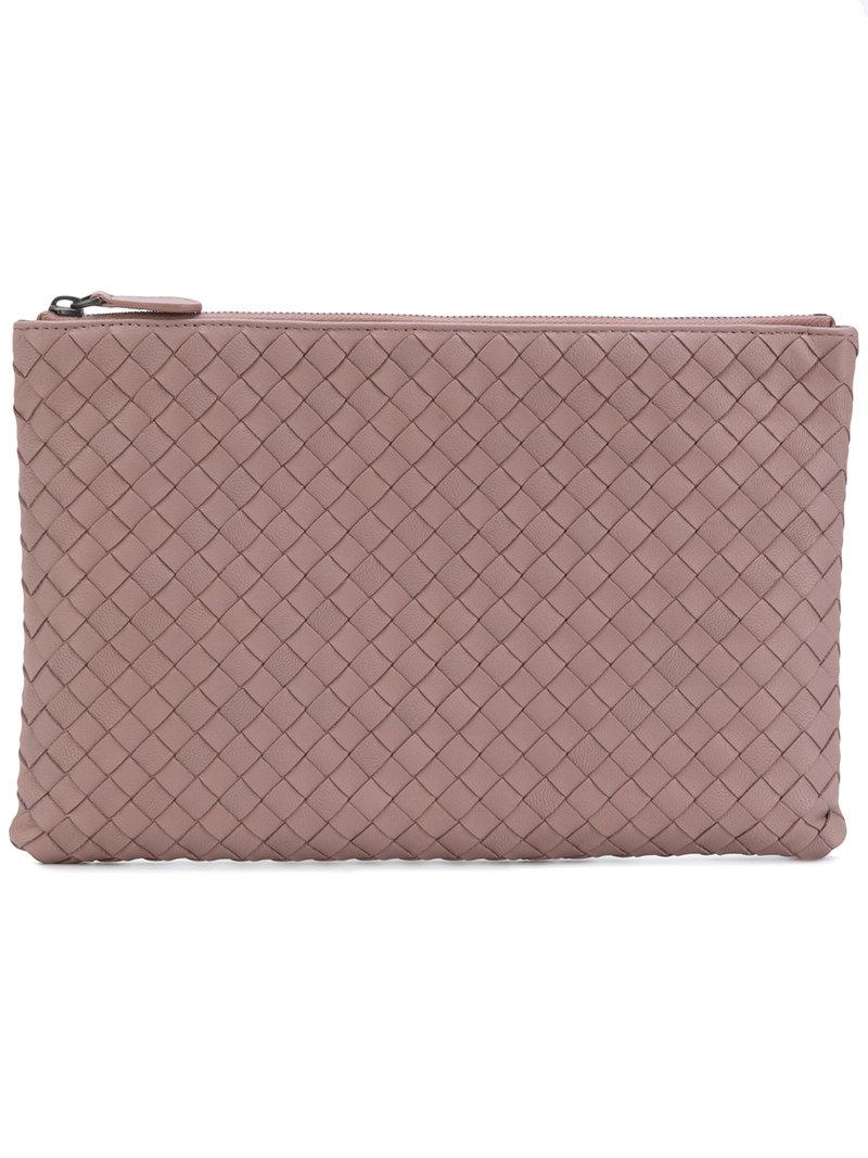 Bottega Veneta Desert Rose Intrecciato Nappa Medium Document Case - Pink In  Pink   Purple 24770d6ddecb9