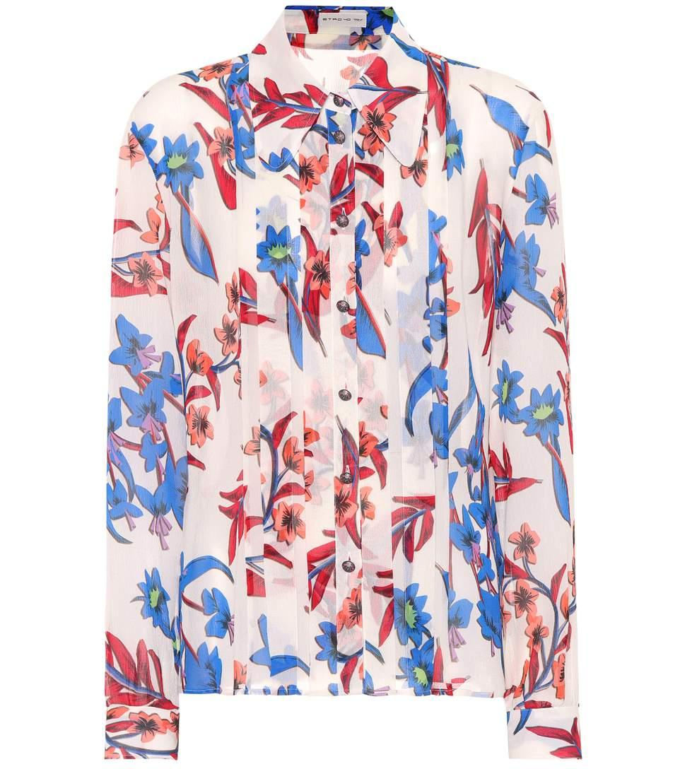 Etro Floral Printed Silk Shirt