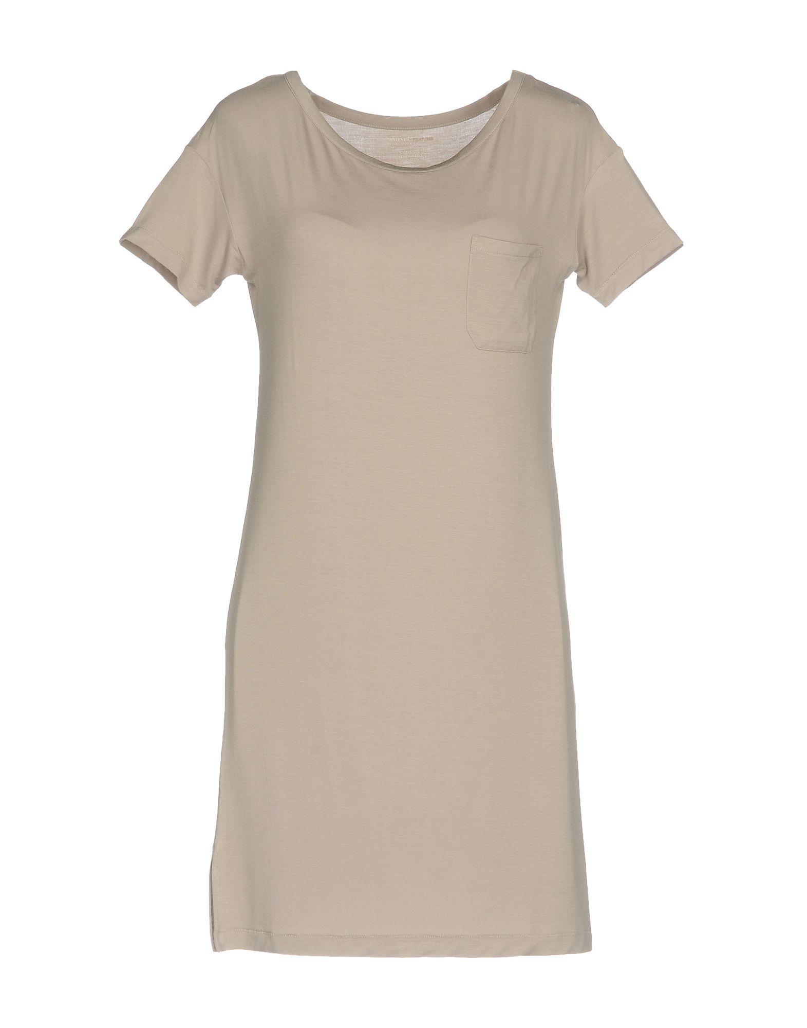 Majestic Short Dress In Grey