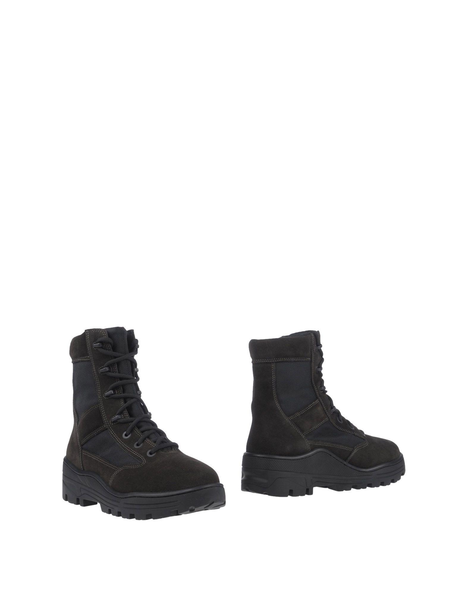 4cd5598360a Yeezy Lace Up Combat Boots In Dark Brown