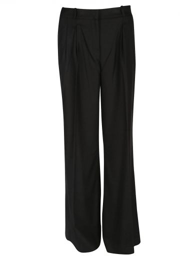 Michael Michael Kors High Waisted Flared Trousers In Black