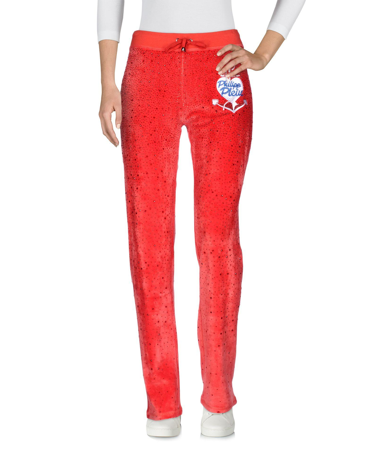 Philipp Plein Casual Pants In Red