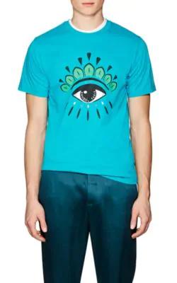 6e51dde52 Kenzo Eye-Logo Graphic T-Shirt, Turquoise In Blue | ModeSens