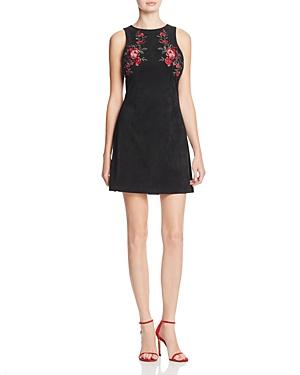Cupcakes And Cashmere Valet Embroidered Minidress In Black