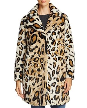 Cupcakes And Cashmere Abeni Leopard-Print Faux-Fur Coat