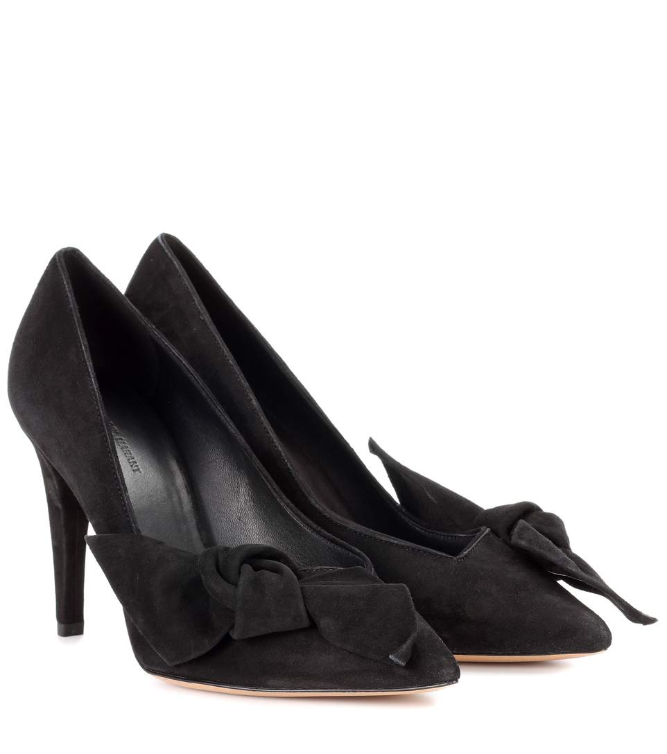 Isabel Marant Poetty Suede Pumps In Black