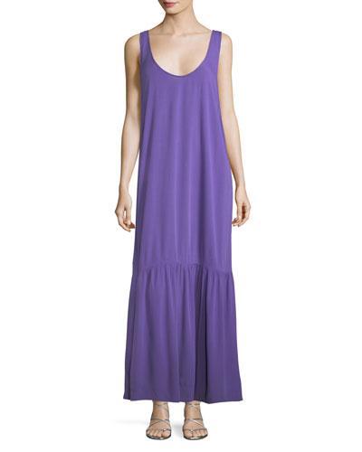 6b92f9bcfb Mara Hoffman Valentina Scoop-Neck Coverup Maxi Dress In Purple ...