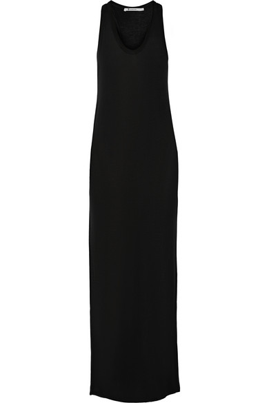 Alexander Wang T Classic Racer-back Jersey Maxi Dress In Black