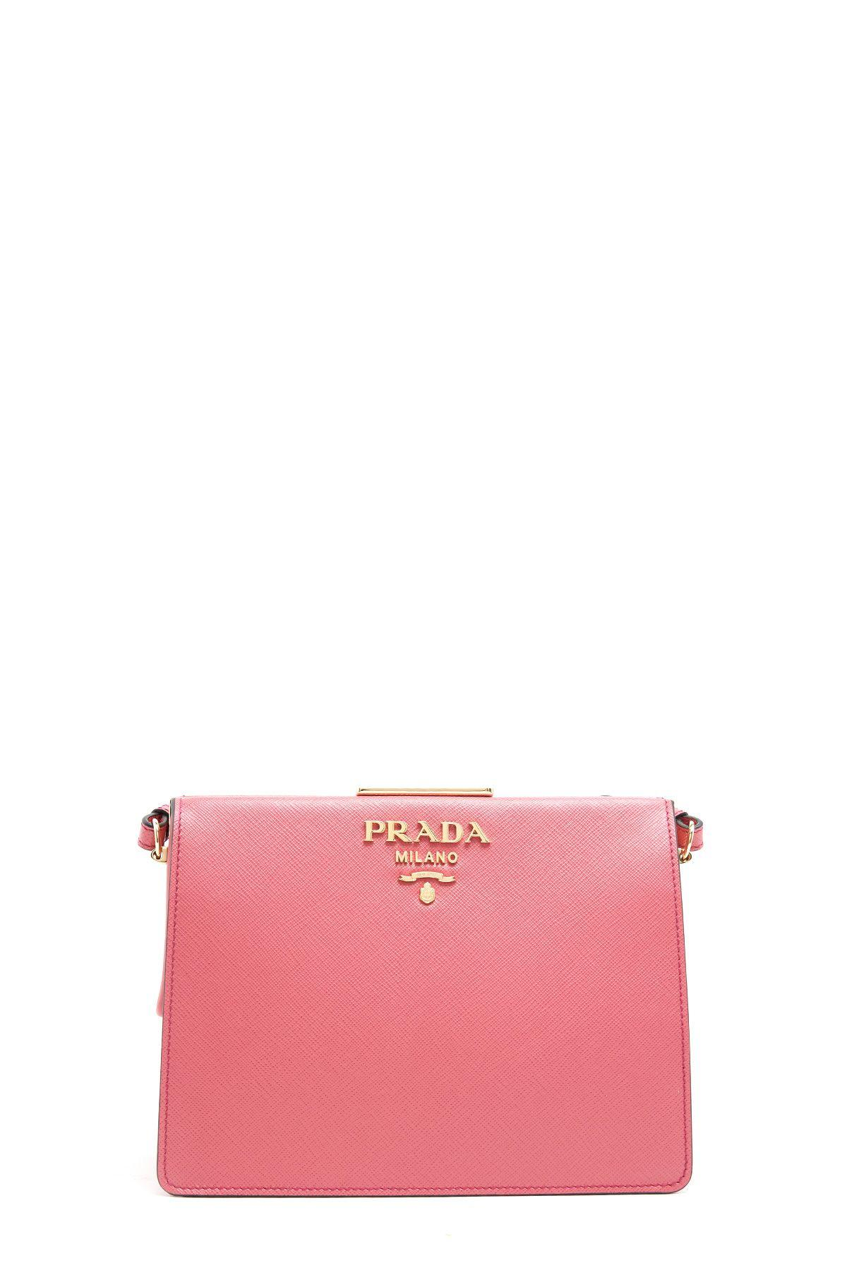 Prada Women's Leather Cross-body Messenger Shoulder Bag In Pink