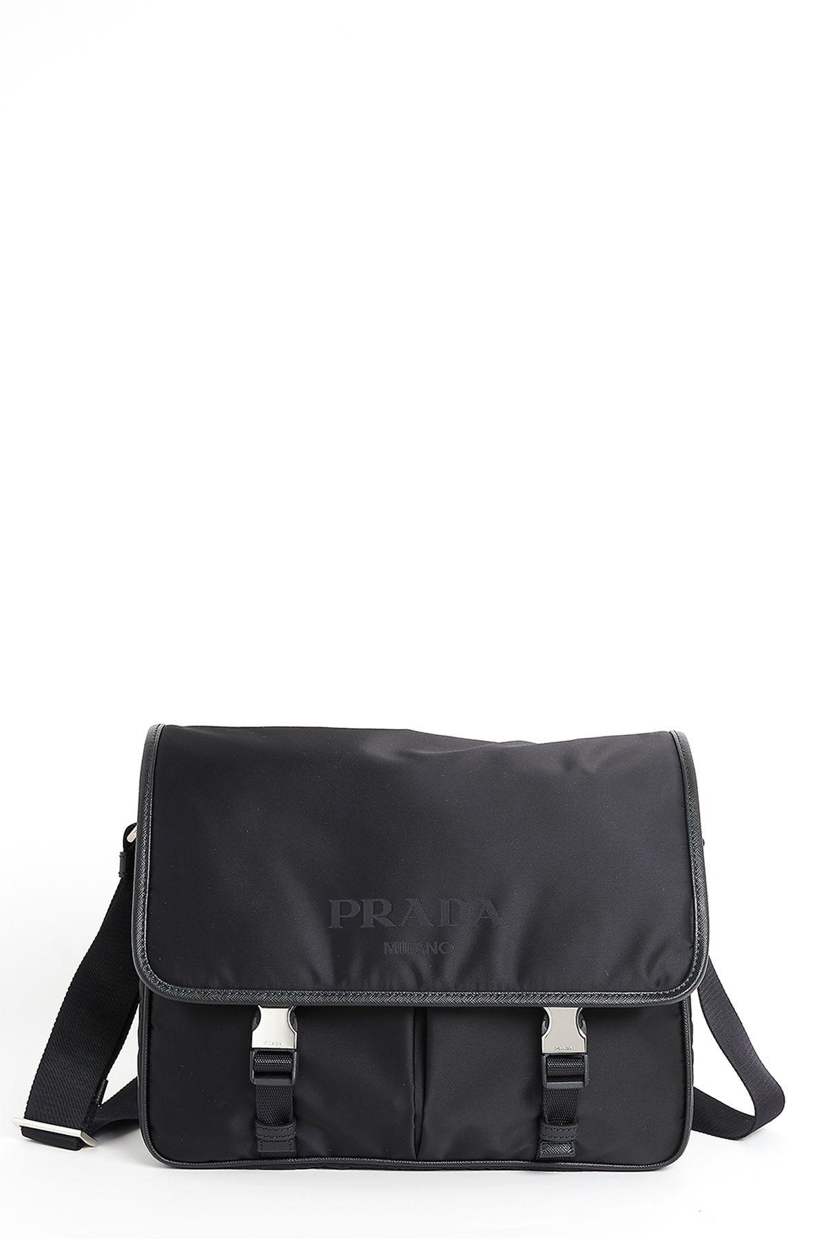 836f26f8f49352 Prada Men's Nylon Cross-Body Messenger Shoulder Bag In Black | ModeSens