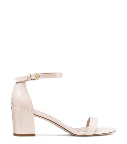 Stuart Weitzman The Simple Sandal In Shell Patent