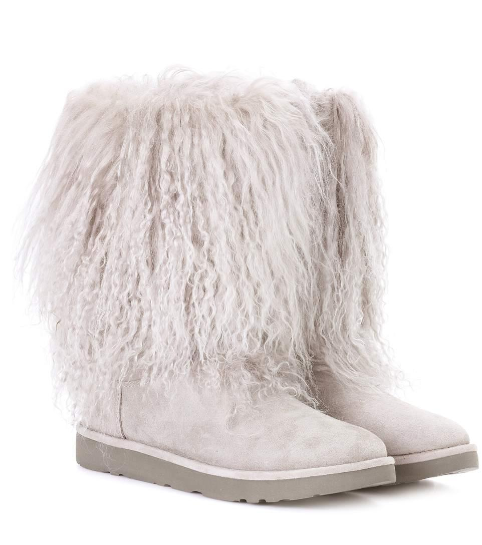d03298736b1 Lida fur and suede ankle boots