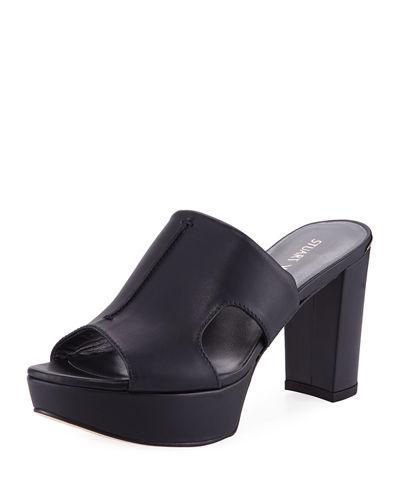 4941da84027 Stuart Weitzman Draft Cutout Slide Platform Sandal In Black
