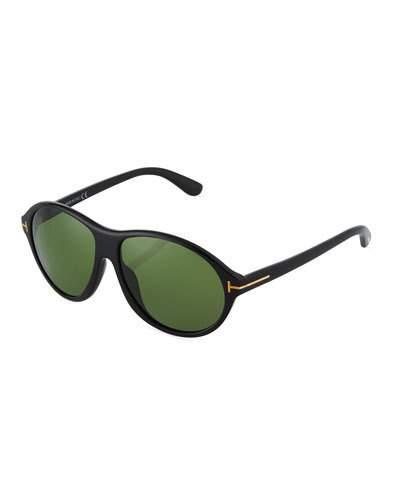 Tom Ford Plastic Round Sunglasses In Black