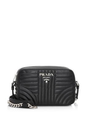 1fe245a6980b Prada Small Quilted Soft Leather Camera Bag In Black
