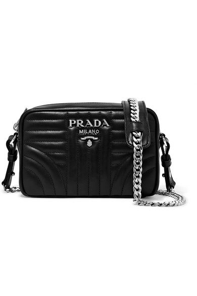 f6984a2bbfe5 Prada Small Quilted Soft Leather Camera Bag In Black | ModeSens