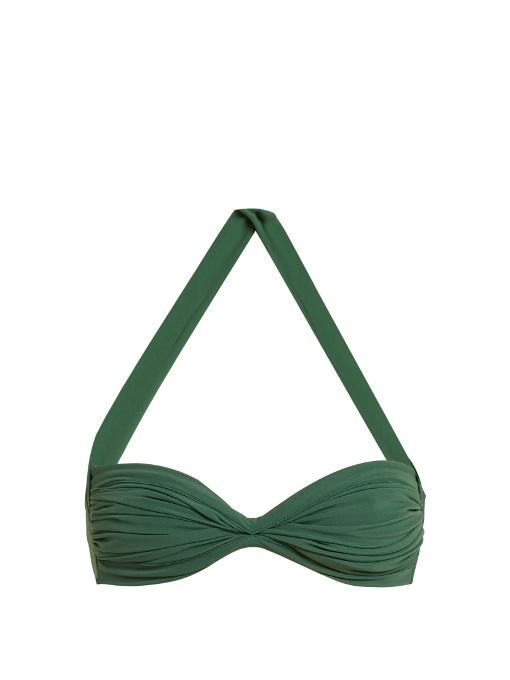Norma Kamali Bill Bra Bikini Top In Green