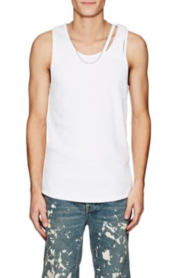 83140ee80fda4 Helmut Lang Reveal Ribbed Cotton-Blend Knit Tank Top In C7J Opt Wht ...
