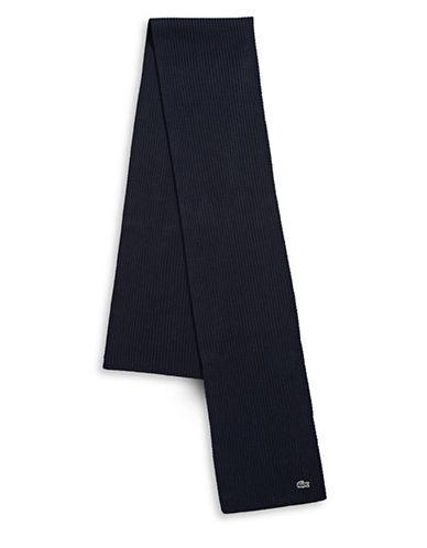 c4d715d9f2e Lacoste Knitted Wool Scarf-Navy | ModeSens