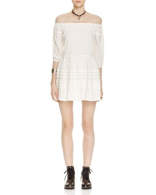 Free People 'candy Shop' Off The Shoulder Minidress In Ivory