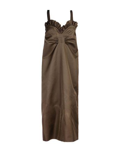 Rochas Midi Dress In Khaki