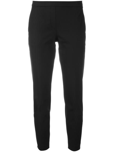 Theory Women's Thaniel Twill Slim-fit Crop Pants In Black
