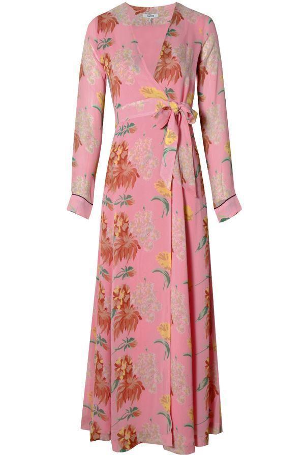 d379a6c00cd84 Ganni Marceau Georgette Maxi Dress Sea Pink In Pink