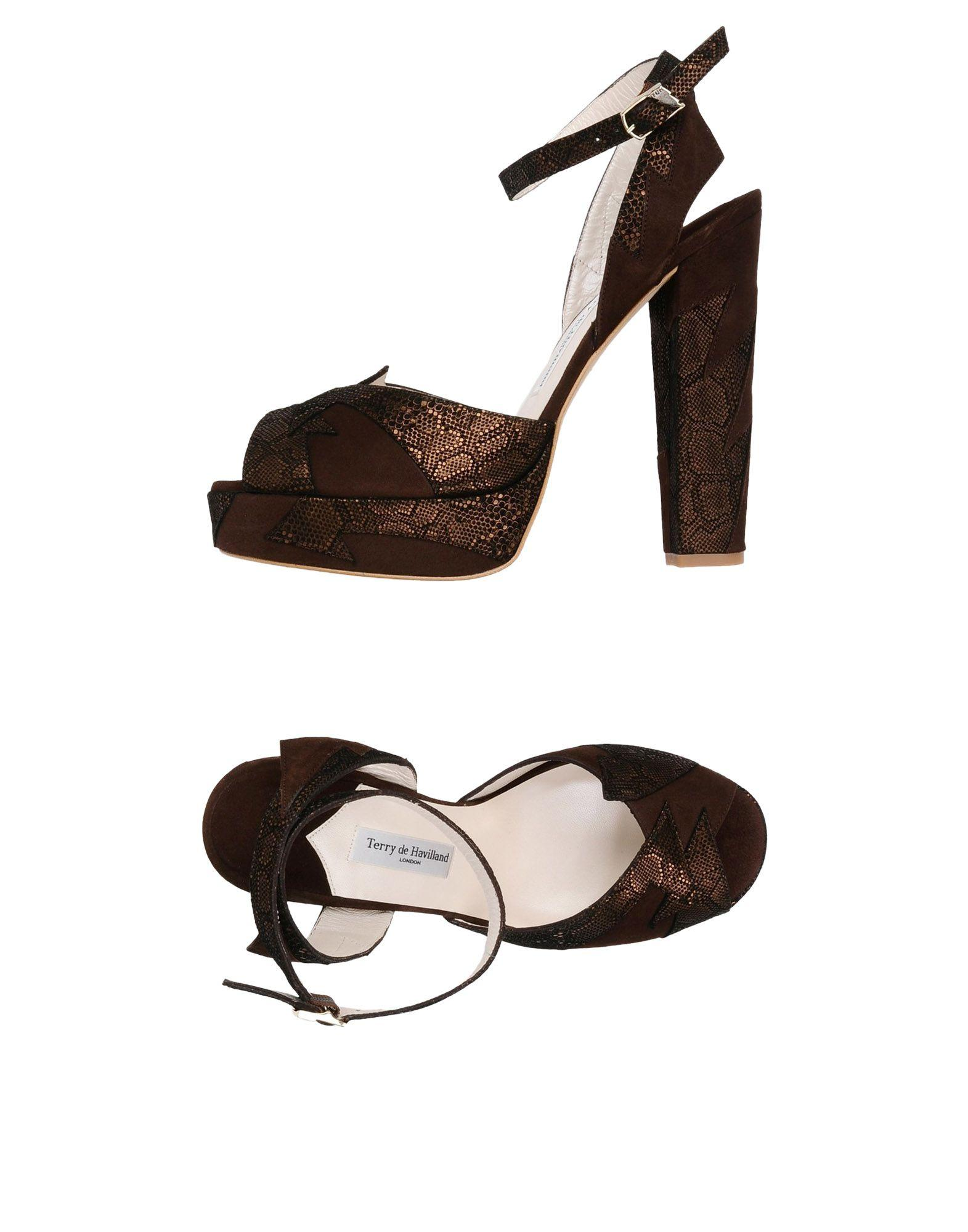 Terry De Havilland Sandals In Dark Brown