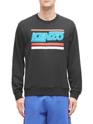 f0ce31f6818 Kenzo Hyper Black Cotton Sweatshirt In 99.Black   ModeSens