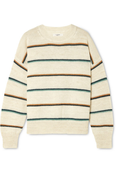 Etoile Isabel Marant Gatlin Striped Alpaca-Blend Sweater In Ecru
